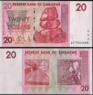 Zimbabwe P 68 - 20 Dollars 2007 - UNC - Zimbabwe
