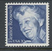 USA 1984 Scott  #  2105. Eleanor Roosevelt, MNH (**). - Nuevos