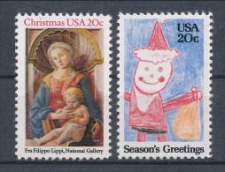 USA 1984 Scott  #  2107-2108. Christmas Isuue, Set Of 2, MNH (**). - Nuevos