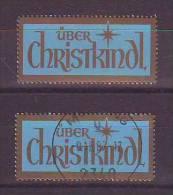 1105s: Christkindl- Leitzettel Ausgabe 1984 **/o Gest. PA 2740 Mödling (ANK 26.- €) - Christmas