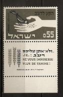 Israël 1963 N° 231 ** Campagne Contre La Faim, Blé, Agriculture, Céréales, Oiseau, Graines, Main, Famine, Pauvreté - Israel