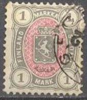 1885 New Colours 1 Mark Mi 24 / Facit 24 / Sc 35 / YT 25 Used / Oblitéré / Gestempelt [lie] - Oblitérés
