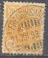 1889-1900 Three-Numbered 20 Penni 12,5x12,5 Mi 30A / Facit 30 / Sc 41 / YT 31A Used / Oblitéré / Gestempelt [lie] - Oblitérés