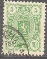 1889-1900 Three-Numbered 5 Penni 12,5x12,5 Mi 28A / Facit 28 / Sc 39 / YT 29A Used / Oblitéré / Gestempelt [lie] - Oblitérés