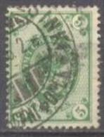 1901-03 1st Letterpress Issue 5 Penni 14,25x14,75 Mi 56B / Facit 55 / Sc 71 / YT 56 Used / Oblitéré / Gestempelt [lie] - Oblitérés
