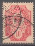 1901-03 1st Letterpress Issue 10 Penni 14,25x14,75 Mi 57BI / Facit 57I / Sc 72 / YT 57 Used/ Oblitéré / Gestempelt [lie] - Oblitérés