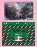 New Zealand - 1993 Philatelia Mit T´card - $5 Elephant Seals - NZ-E-7 - Mint In Folder - Nouvelle-Zélande