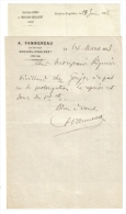 Moulins Engilbert 2 Lettres Entete Huissier Et Docteur - Vieux Papiers