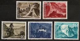 LIECHTENSTEIN 1959/1961 - LANDSCHAFTEN / Scenery - 3v(1959) 2v(1961) (*) MINT No Gom Cv€2,60 A233 - Liechtenstein
