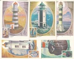 LIGHTHOUSES On USSR 1984 5 X Maximum Cards #6824 - Phares