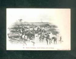 Guinée Portugaise - Lavoir Indigene Pres De  Bissau  ( Animée Dos Simple Rodez E. Carrere Imp.-édit.) - Guinea-Bissau