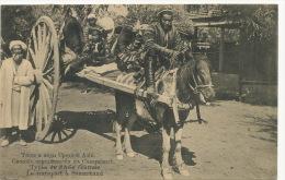 Types Asie Centrale Le Transport A Samarkand Allelage Cheval  Femmes Voilées Burkah - Ouzbékistan