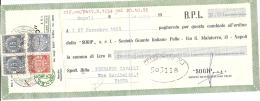 N-CAMBIALE  SOGIP SOCIETA GUANTO ITALIANO IN PELLE-1955 - Cambiali