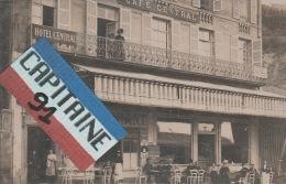 CPA ROYAT PUY DE DOME CARTE POSTALE PHOTO ANCIENNE CAFE HOTEL CENTRAL RESTAURANT  X X - Royat