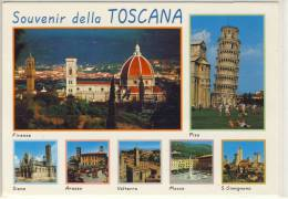 TOSCANA -  multi vendute : Firenze, Pisa, Siena, Arezzo,  Volterra, Massa S. Gimignano, viste panoramiche multiple