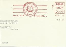 Lettre  EMA 1961  Rasoirs Theme Logo  Willcox Gibbs New York  Paris 21/12 - Sciences