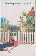 Smelling Salts !- Quick. House For Rent. Unused Card. Bamforth No.943 - Humor