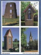 Carte Postale 59. Aubry Du Hainaut   Chapelle  Moulin église Trés Beau Plan - France