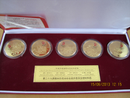 CHINA - BEIJING OLYMPIC GAMES 2008 - FAMOUS FLOWERS MEDALLION SET - VERY UNIQUE SET OF 5 - Apparel, Souvenirs & Other