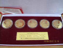CHINA - BEIJING OLYMPIC GAMES 2008 - FAMOUS FLOWERS MEDALLION SET - VERY UNIQUE SET OF 5 - Habillement, Souvenirs & Autres