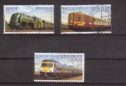 Train, Locomotive, Eisenbahn Trein: Belgie 2001 Mi.No. 3043 - 3045 - Trains