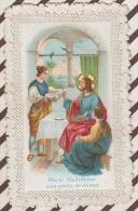3AD814  IMAGE PIEUSE DENTELLE MARIE MADELEINE AUX PIEDS DE JESUS  2 SCANS - Images Religieuses