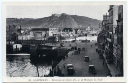 50 : CHERBOURG - PANORAMA DES QUAIS, BASSINS ET MONTAGNE DU ROULE - Cherbourg