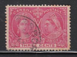 Canada Used Scott #53 3c Jubilee Cancel: Parrsboro NS - Oblitérés