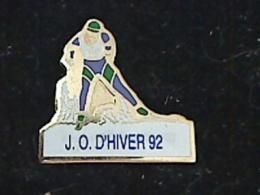 1 PIN´S JEUX OLYMPIQUES ALBERTVILLE 1992 JO D´HIVERS 92 BIATHLON - Olympische Spiele