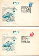 URUGUAY. N°1097-8 Sur 2 Enveloppes 1er Jour (FDC) De 1982. Général Artigas. - Militares