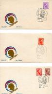 URUGUAY. N°841-50 Sur 9 Enveloppes 1er Jour (FDC's) De 1972-3. Général Artigas. - Militares