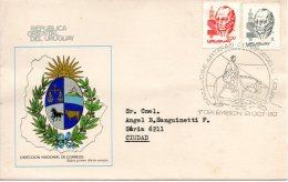 URUGUAY. N°1060 + 1062 Sur  Enveloppe 1er Jour (FDC) De 1980. Général Artigas. - Militares