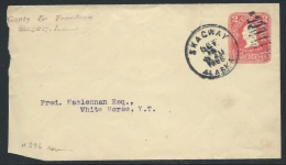 Alaska Postal History, 1906 Cover (Scott #U396 Entire) Sent From Skagway, Alaska, To White Horse, Yukon Terr., Canada - Postal History