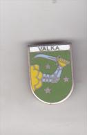 Latvia Old Pin Badge - Cities - Valka - Cities