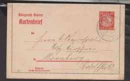 Kartenbrief,K6/01 (3530) - Bayern