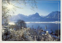 ST. WOLFGANG - Im Winter, Weihnachtsgrußkarte 1998, Sondermarke - St. Wolfgang