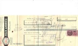 Lettre Change 1938 ANDRIEU Fromage Le Capiscol Cantal Et Laguiole AURILLAC  Pour Gourdon Lot -  Timbre Fiscal - Wissels