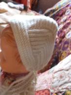 Bonnet Ancien De BB Poupée Laine - Children
