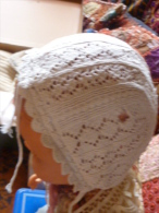 Bonnet Ancien De BB Poupée - Children