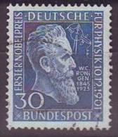 Bund 1951, Mi. 147 Gestempelt, Physik- Nobelpreis Roentgen - Physics
