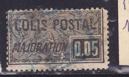 FRANCE COLIS POSTAUX N° 15 0.05 GRIS MAJORATION OBL - Usados