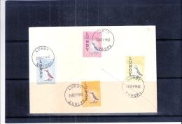 FDC Lundy - Europa 1962 - Oiseaux (à Voir) - Europa-CEPT