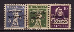 """1930-31   Nos. 33 à 35  """"SOCIETE DES NATIONS"""" - Servizio"""
