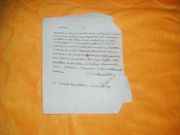 LETTRE MANUSCRITE A IDENTIFIER DATE 1834 OU 1839 ?. - Marcophilie (Lettres)