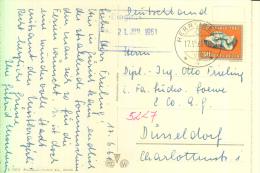 SCHWEIZ, PRO PATRIA 1961, Einzelfrankatur Nach Düsseldorf, 17.VI.1961 - Pro Patria