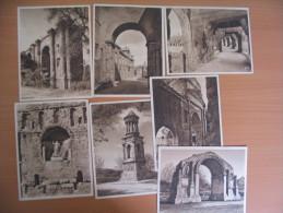 LOT DE 7 CARTES PUBLICITE  ....NOS MONUMENTS ROMAINS.... - Cartes Postales