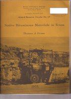 Native Bitominous Materials In Texas, 1975 - Obras Públicas