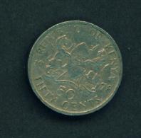 KENYA -  1978 50c Circ. - Kenya