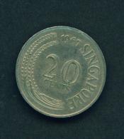 SINGAPORE -  1967 20c Circ. - Singapore