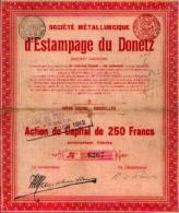 BRUXELLES « Société Métallurgique D'estampage Du Donetz» - Action De Capital De 250 Fr - Russie